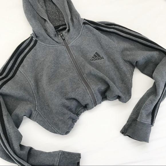 zip hoodie adidas vintage